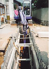 水圧土留一体型 施工事3