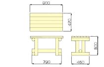 ミニテーブル椅子セットサイズ
