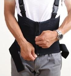 腰サポーター装着方法3